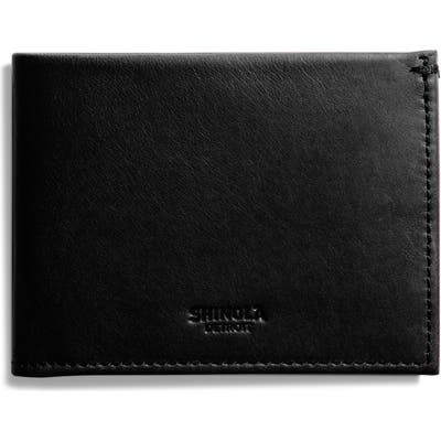 Shinola Slim Bifold Leather Wallet -