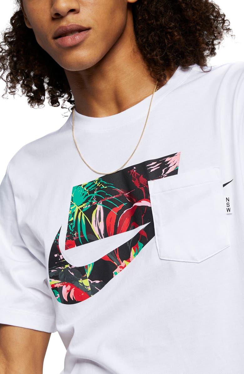 Nike Sportswear Blocked Logo Pocket T Shirt Nordstrom