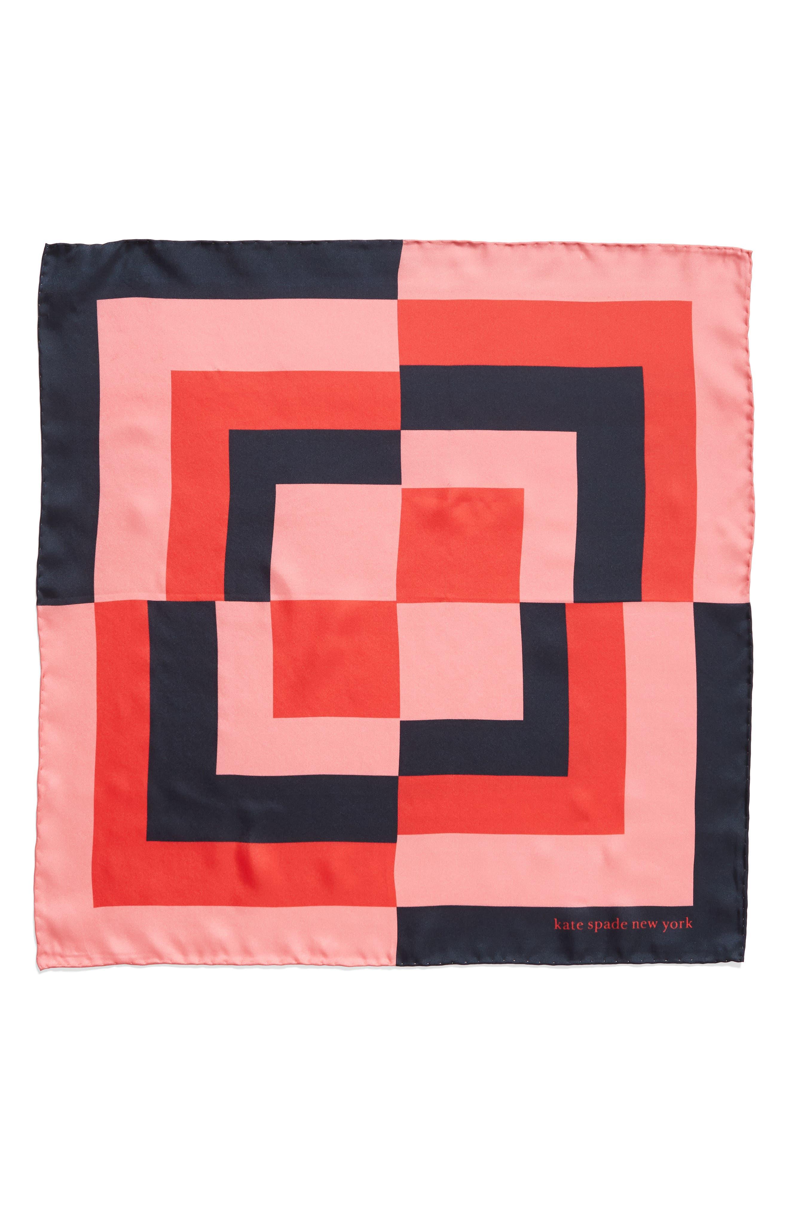 ,                             colorblock silk scarf,                             Alternate thumbnail 2, color,                             PARISIAN NAVY