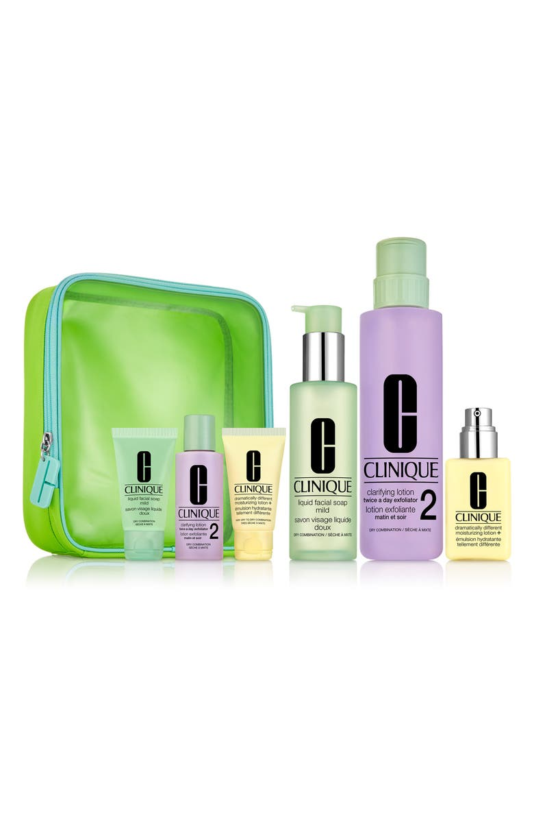 CLINIQUE Great Skin Everywhere 3-Step Skin Care Set for Dry Skin, Main, color, 000