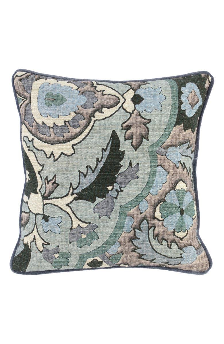VILLA HOME COLLECTION Micha Accent Pillow, Main, color, GRAY/ GREEN