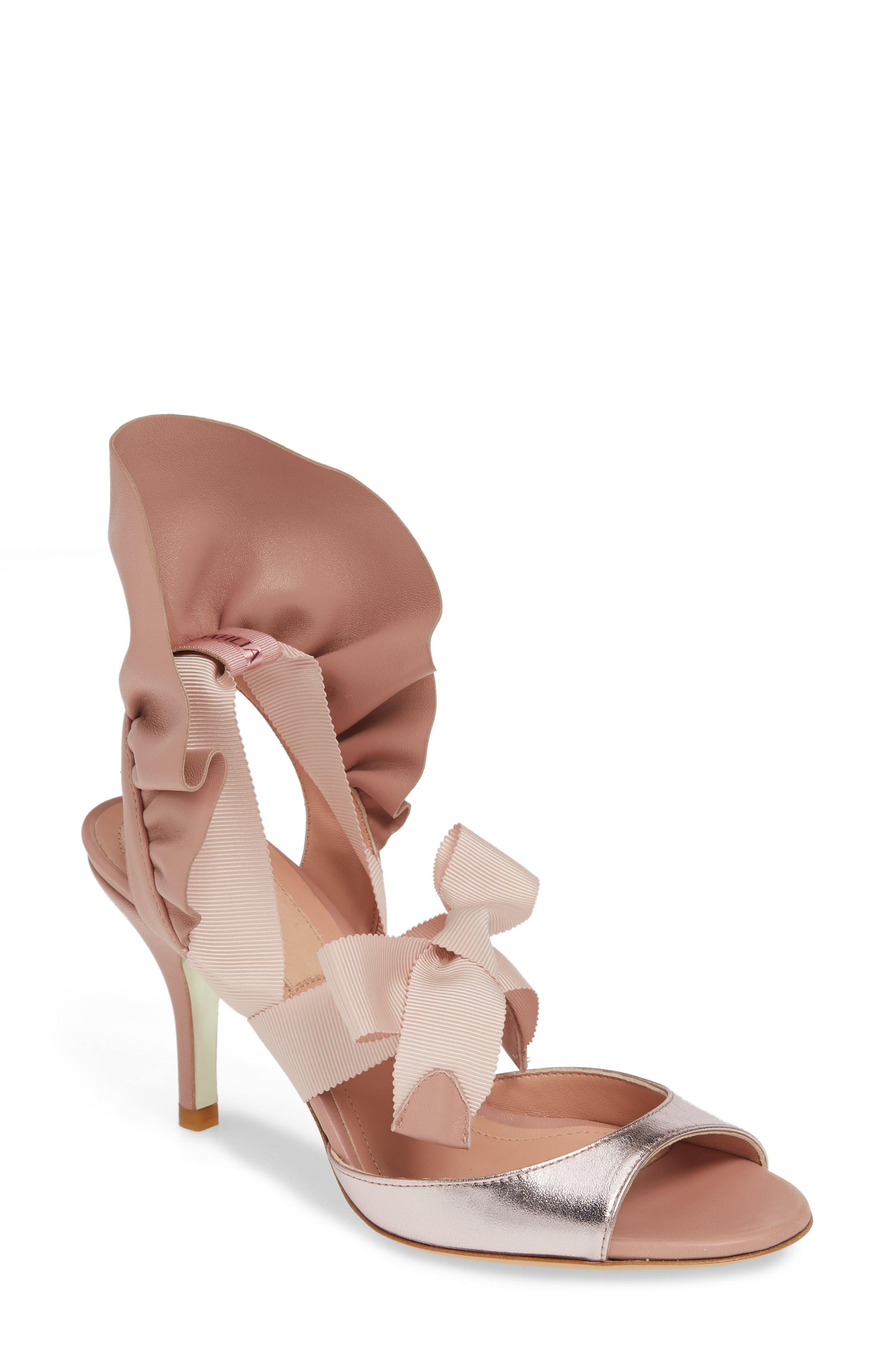 Dahlia Selva Frills For All Sandal, Pink