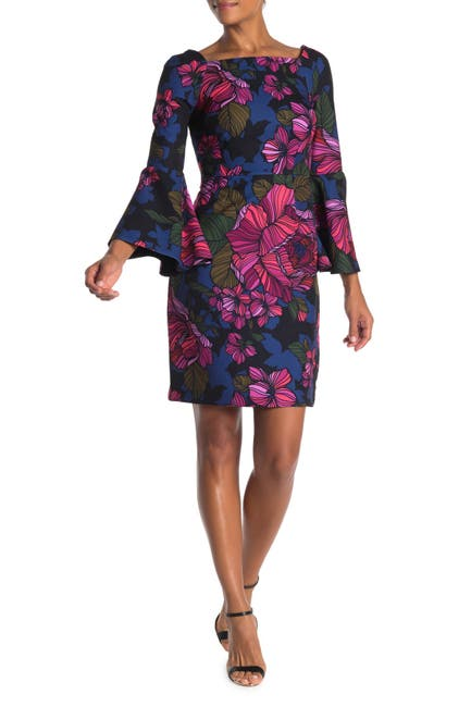 Image of Trina Turk Miley Bell Sleeve Floral Print Dress