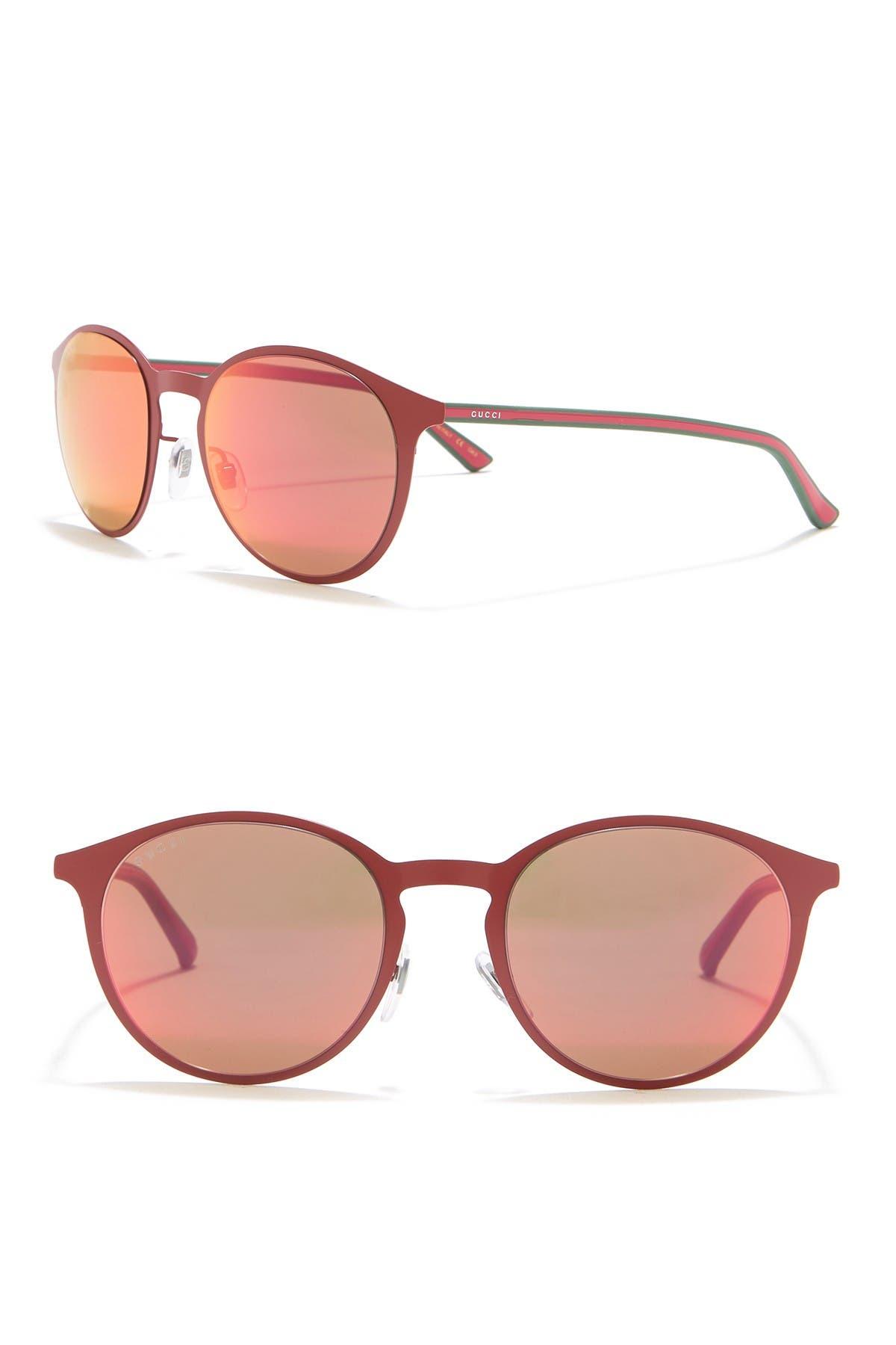 Image of GUCCI 52mm Round Sunglasses