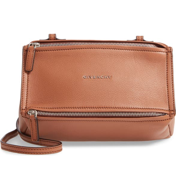 Givenchy 'Mini Pandora' Sugar Leather Shoulder Bag - Brown In Pony Brown