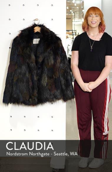 Multicolored Faux Fur Jacket, sales video thumbnail