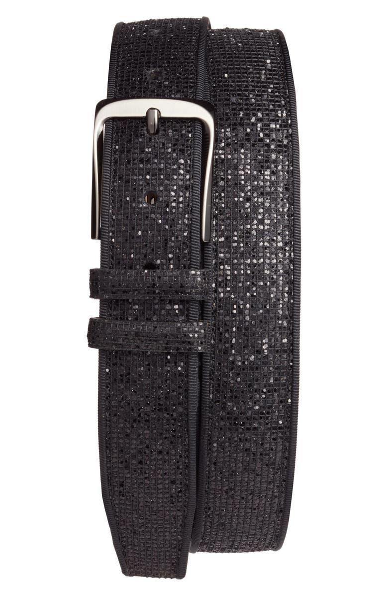 MEZLAN Ines Leather Belt, Main, color, 001