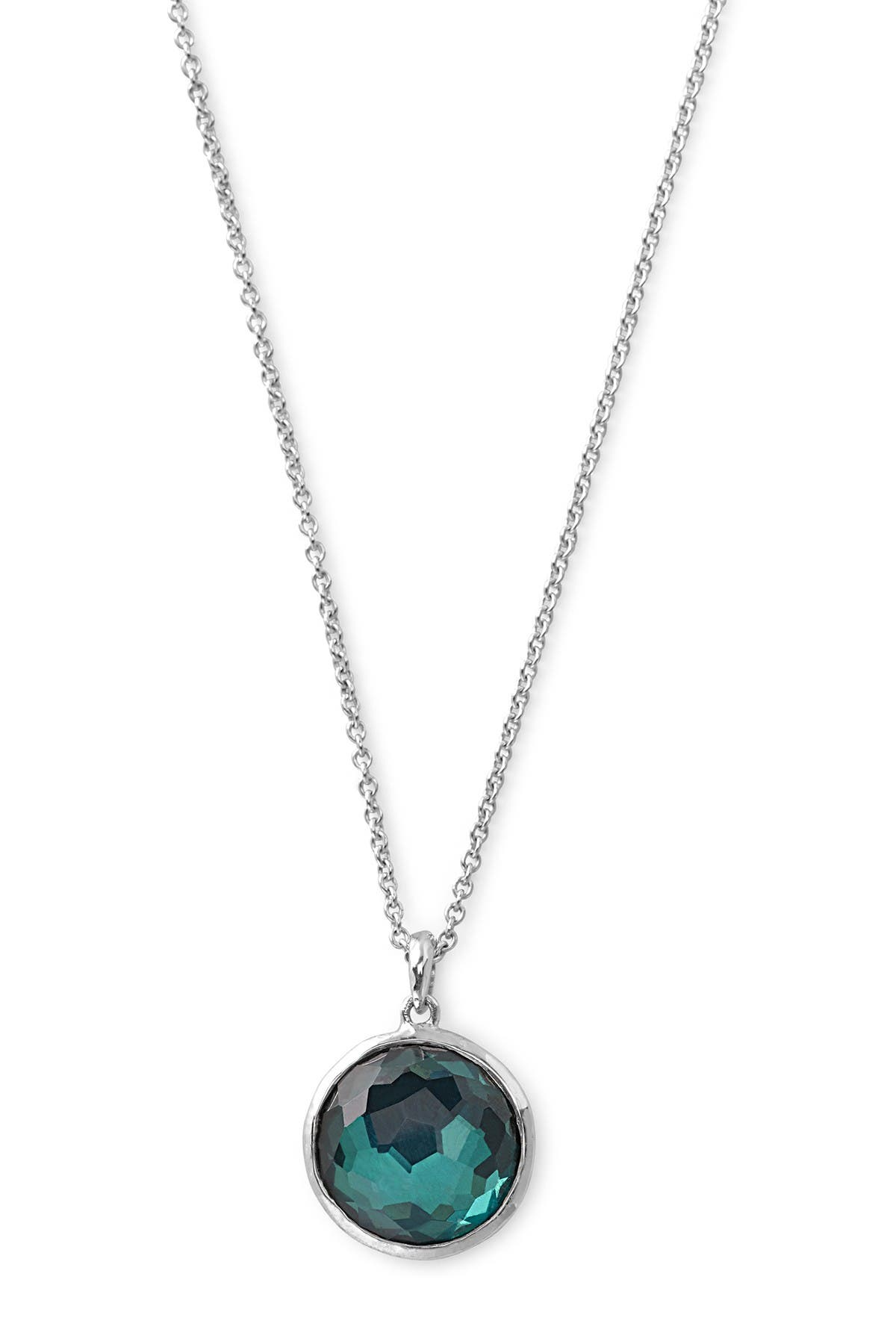 Image of Ippolita Wonderland Sterling Silver Round Pendant Necklace