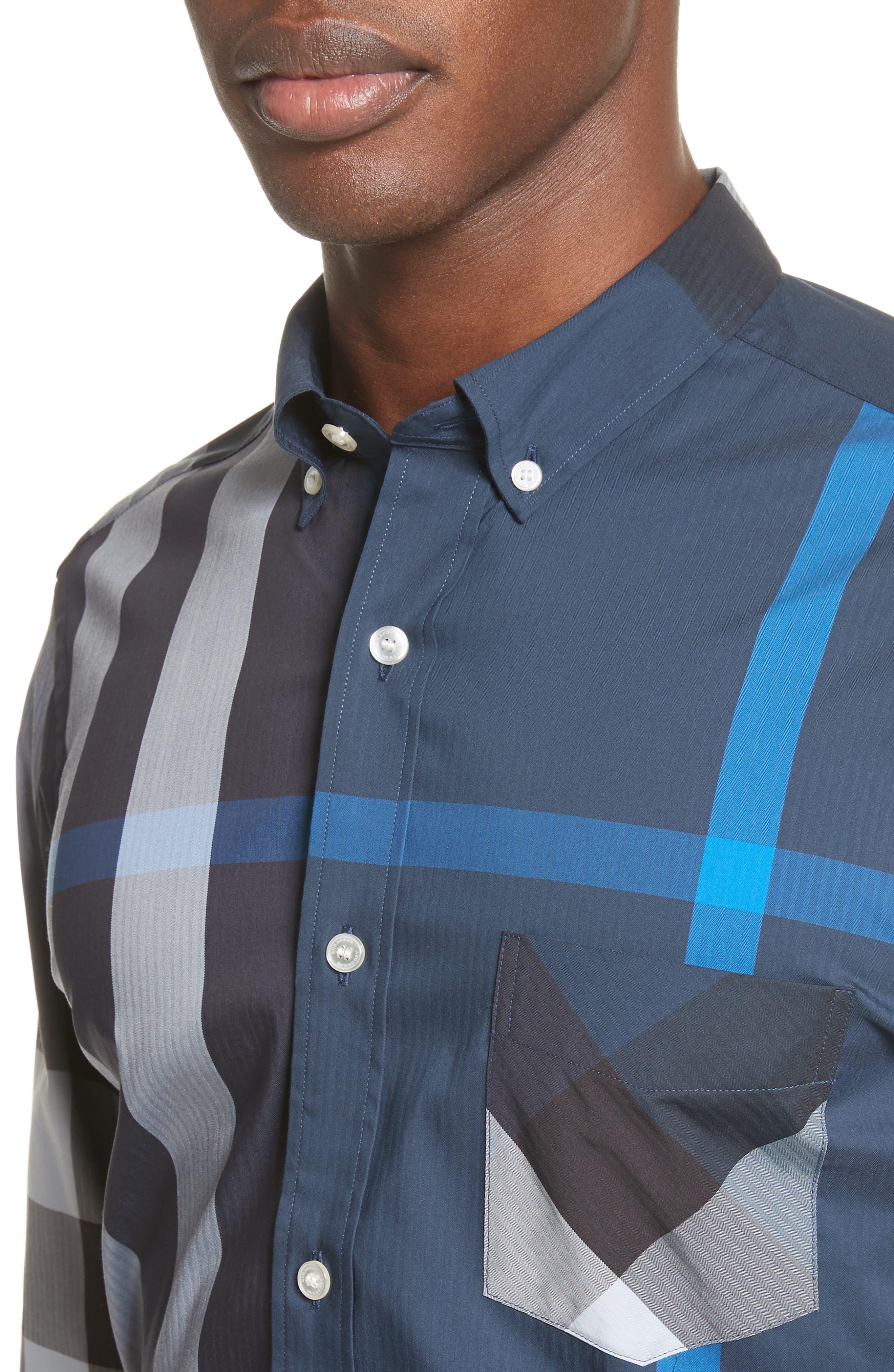,                             Thornaby Slim Fit Plaid Sport Shirt,                             Alternate thumbnail 19, color,                             406