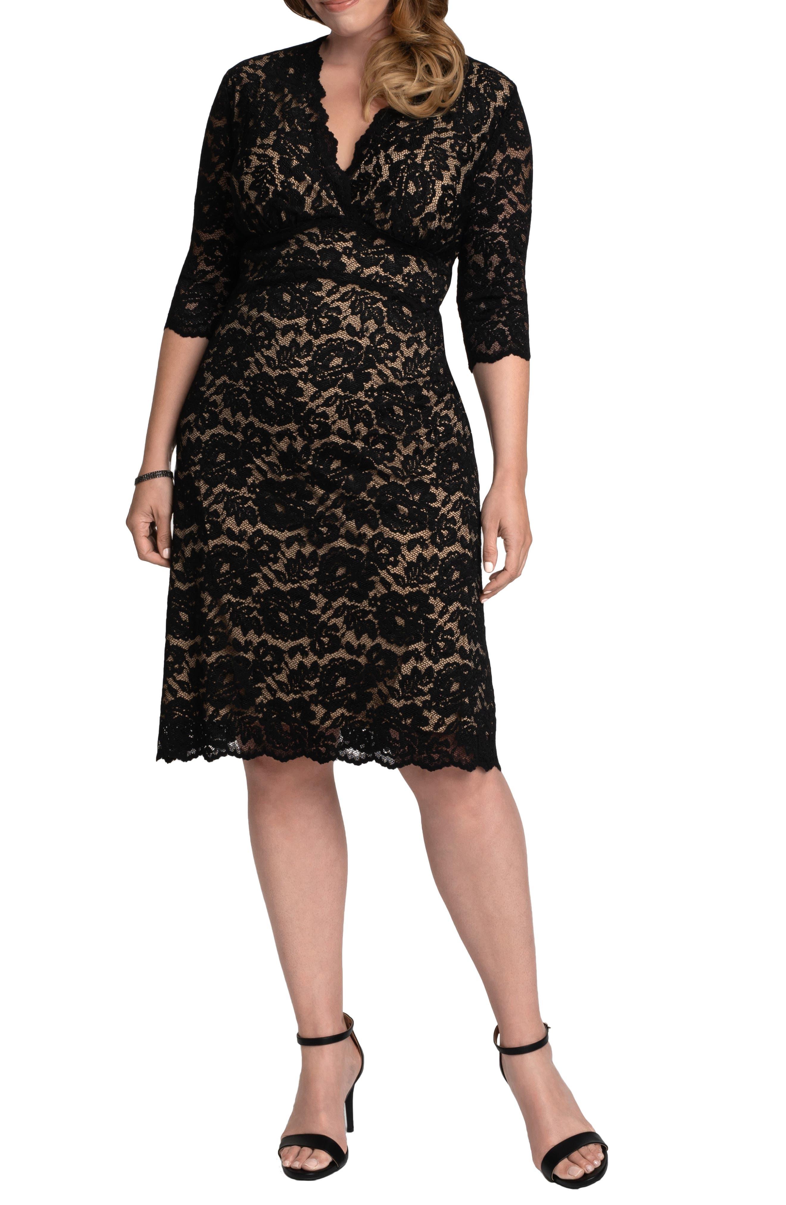 Scalloped Boudoir Lace Sheath Dress
