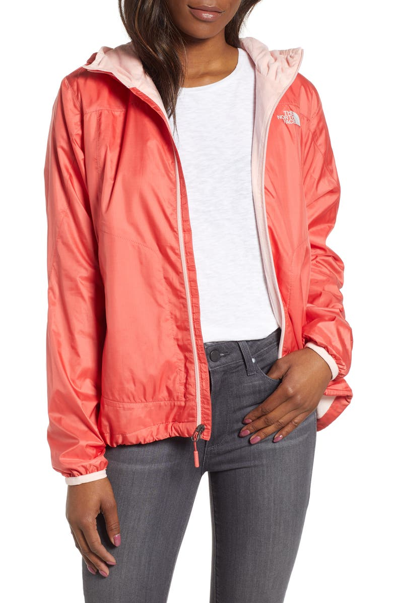 THE NORTH FACE Pitaya 2 Hooded Jacket, Main, color, SPICED CORAL/ PINK SALT