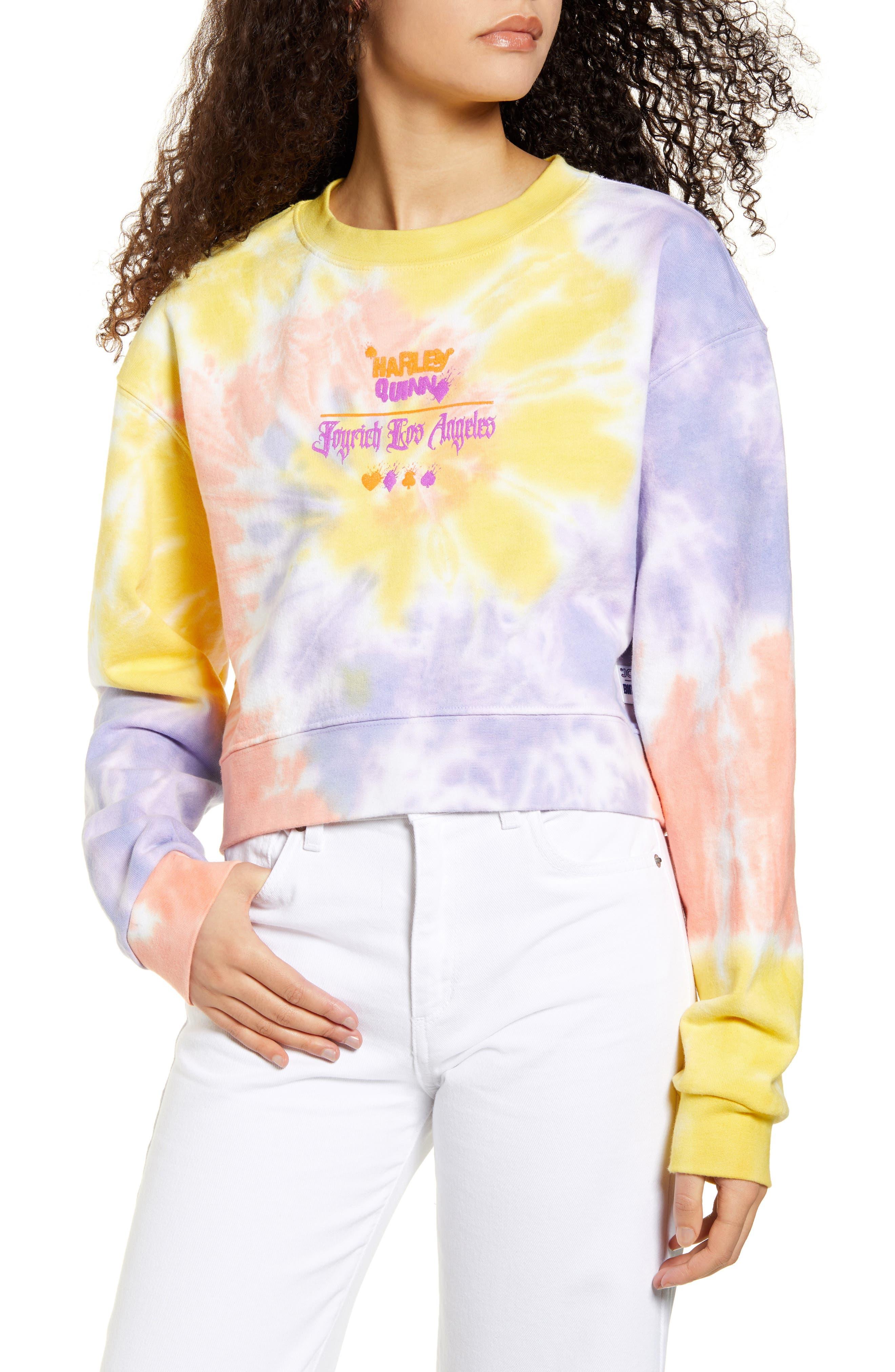 Image of BIRDS OF PREY Harley Quinn Tie Dye Cotton Sweatshirt