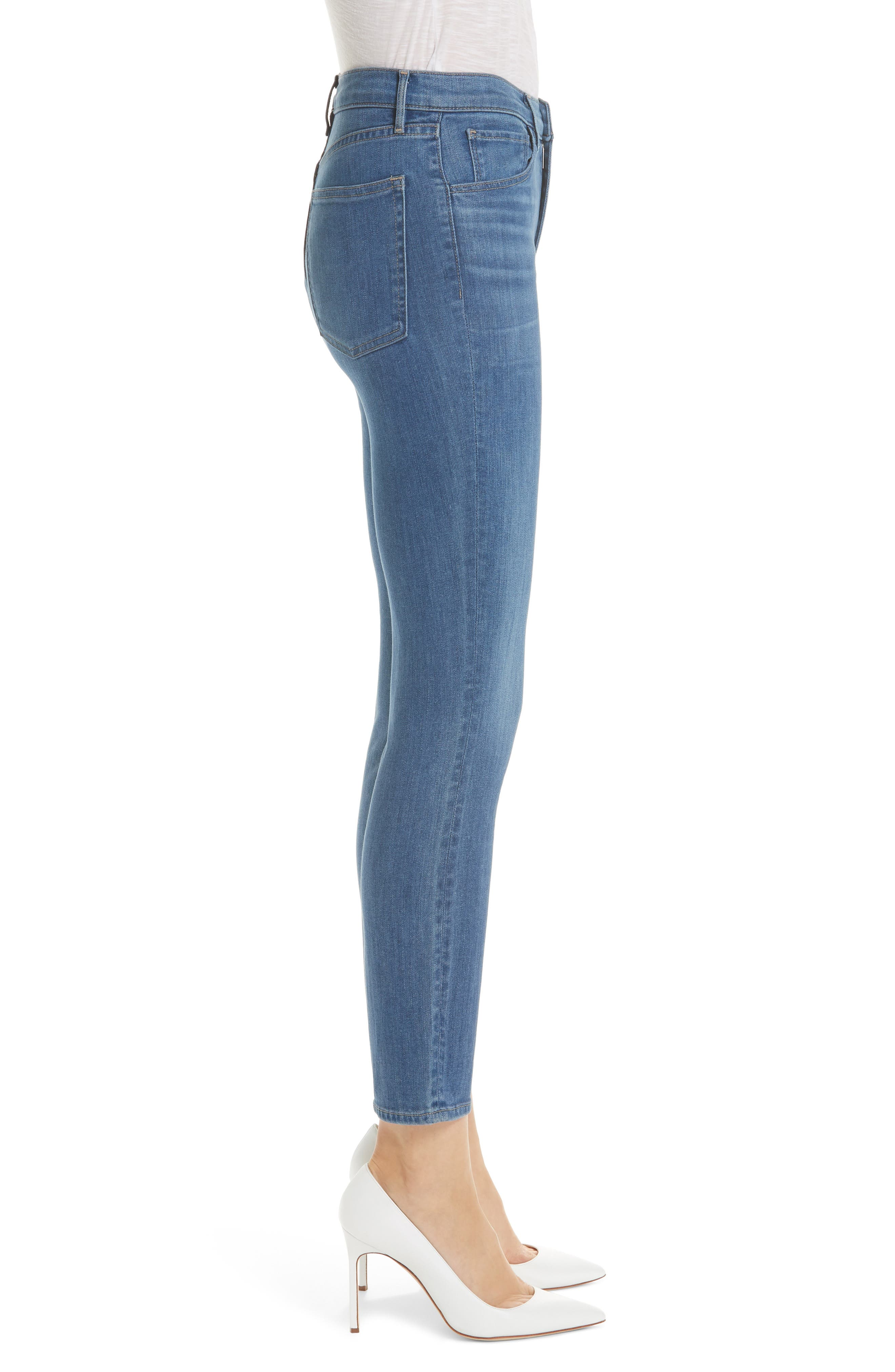,                             W4 Colette Crop Skinny Jeans,                             Alternate thumbnail 4, color,                             MILLY