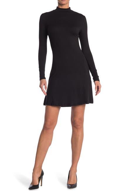 Image of Velvet Torch Mock Skater Dress