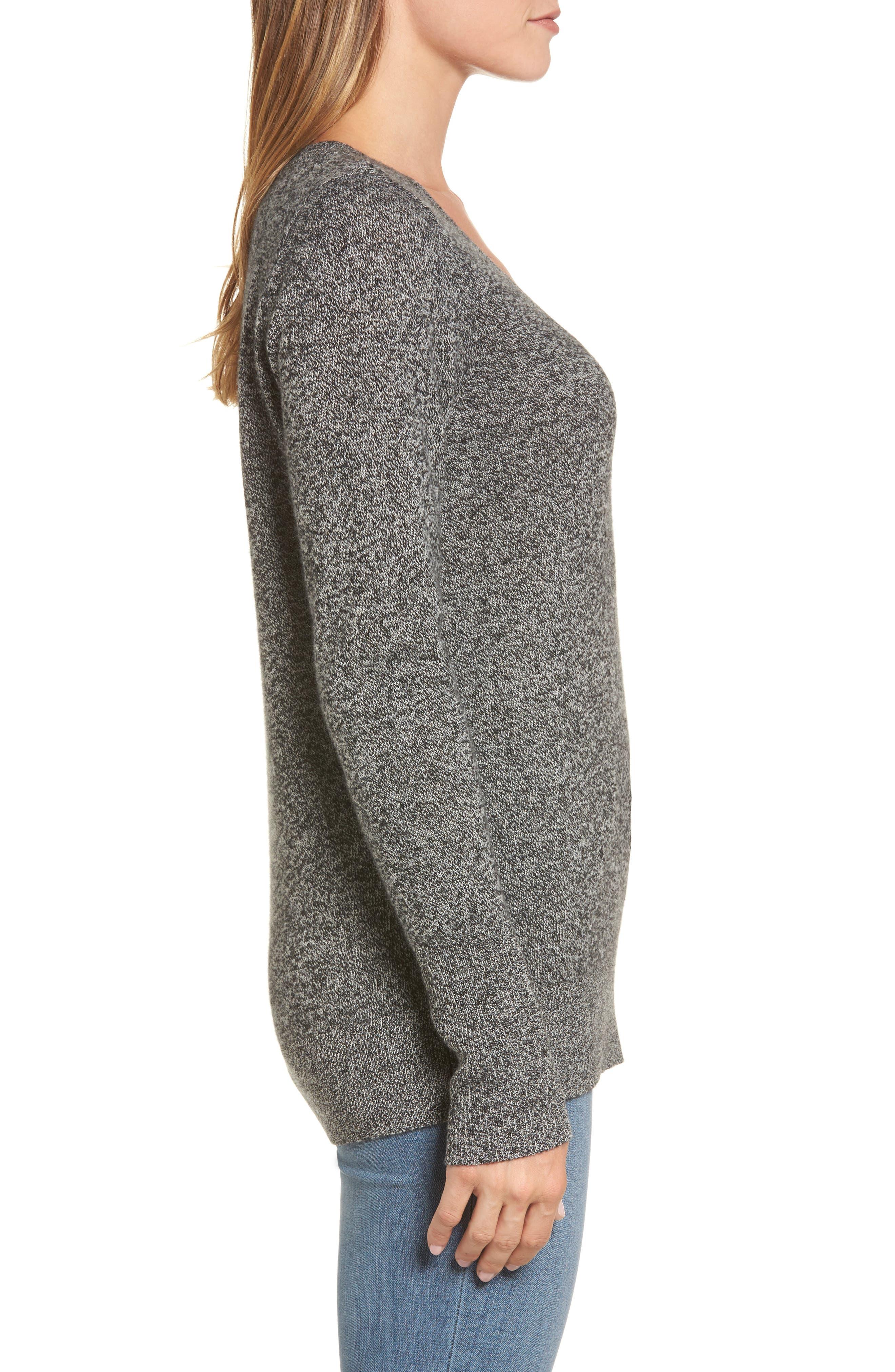 ,                             V-Neck Cashmere Sweater,                             Alternate thumbnail 15, color,                             004