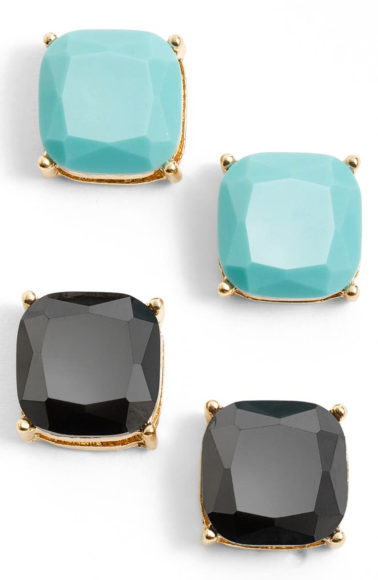 BP. Square Stud Earrings, Main, color, 001