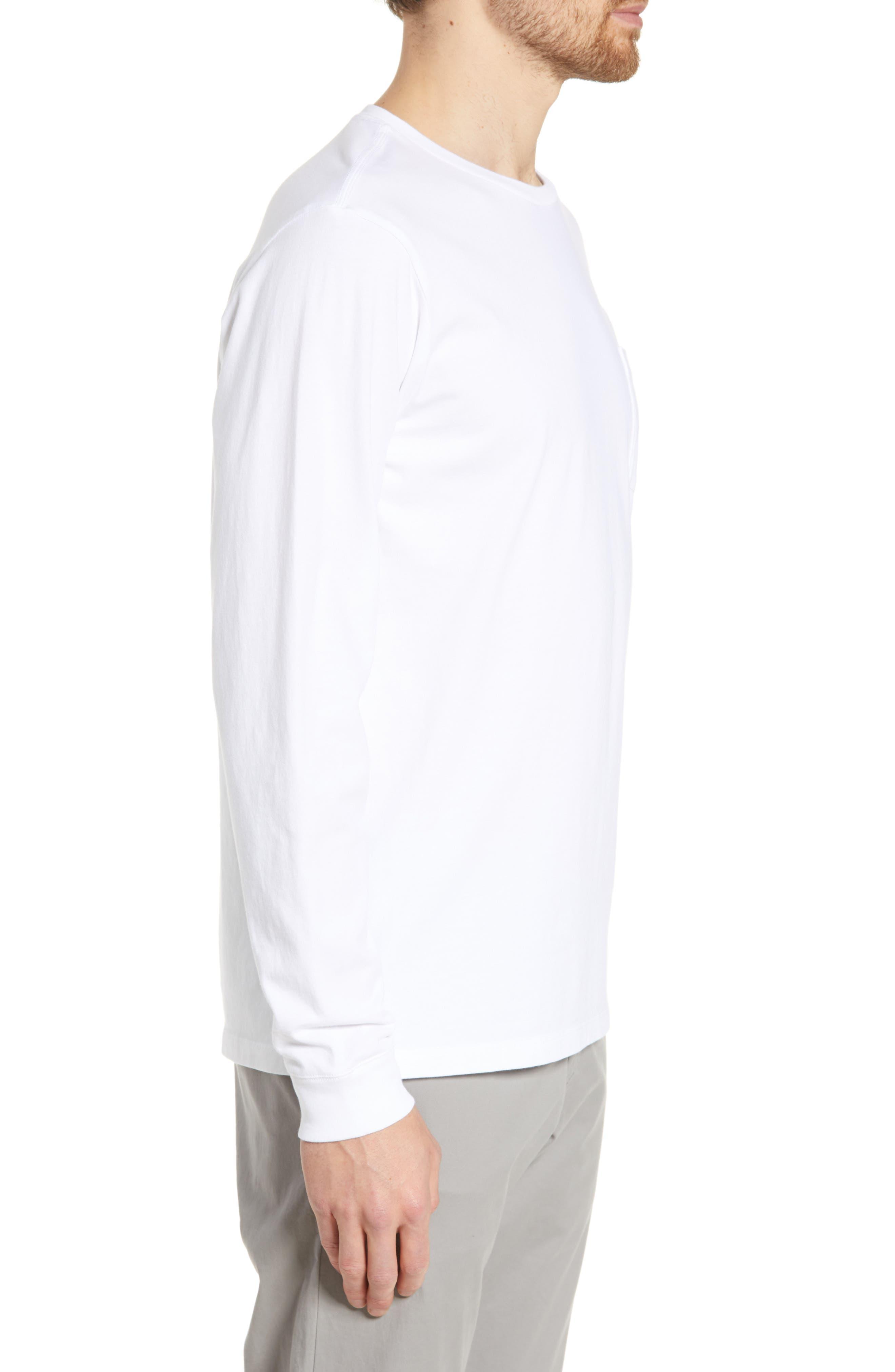 ,                             Surf Logo Long Sleeve Pocket T-Shirt,                             Alternate thumbnail 3, color,                             WHITE CAP
