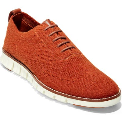Cole Haan Zerogrand Stitchlite Wool Wingtip Oxford, Red