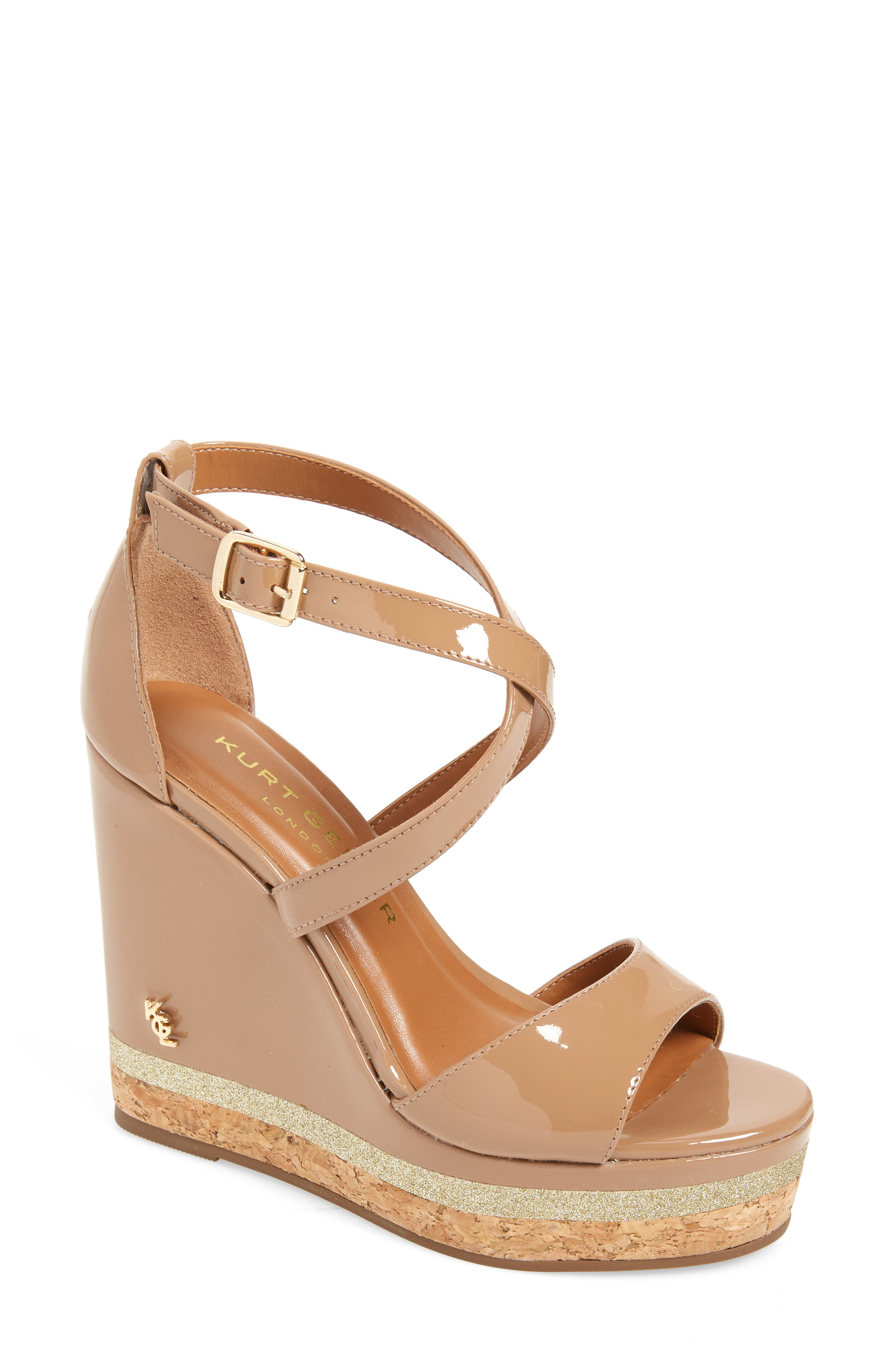 fe2a158f5 Kurt Geiger London Alina Wedge Sandal - Beige