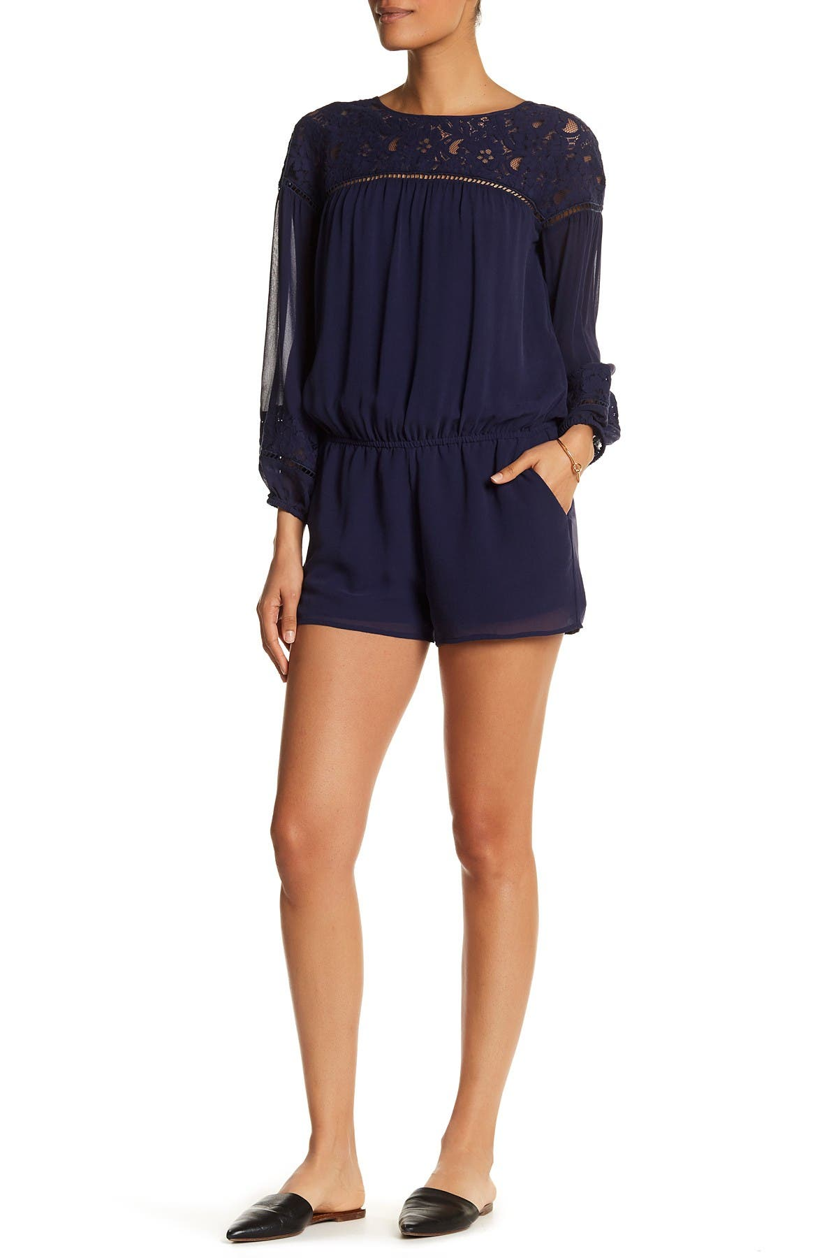 Image of Joie Lace Open Silk Romper