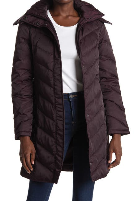 Image of Kenneth Cole New York Faux Fur Trimmed Removable Hood Quilted Down Puffer Jacket