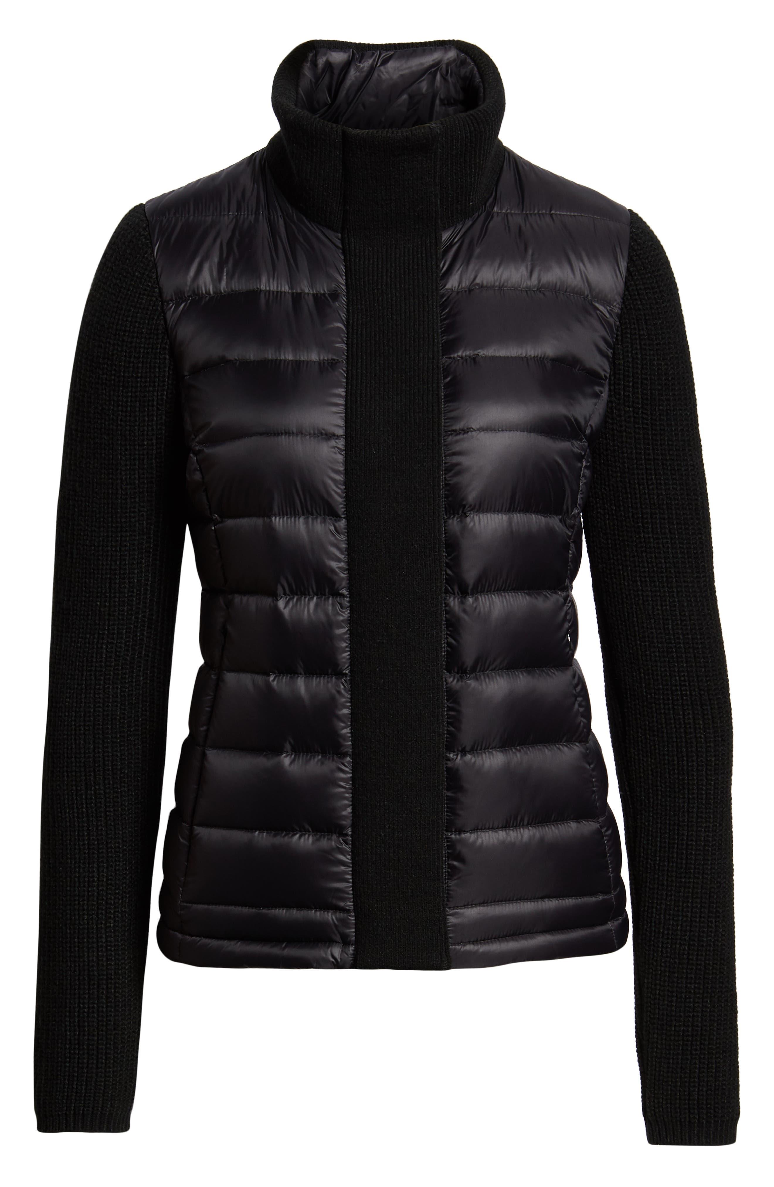 ,                             Mark New York Packable Knit Trim Puffer Jacket,                             Alternate thumbnail 13, color,                             001