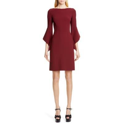 Michael Kors Drape Sleeve Sheath Dress, Burgundy
