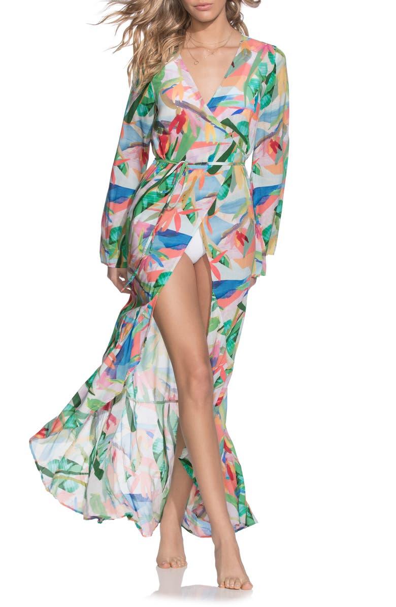 MAAJI Rainbow Reef Wrap Cover-Up, Main, color, 440