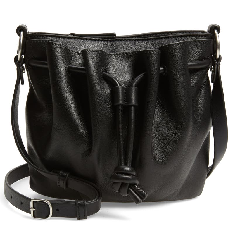 TREASURE & BOND Delaney Leather Crossbody Bag, Main, color, 001