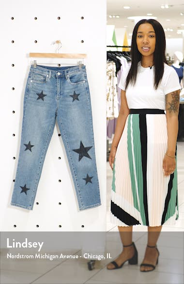Star Patch Crop Skinny Jeans, sales video thumbnail