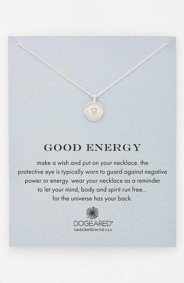 DOGEARED 'Reminder - Good Energy' Boxed Pendant Necklace, Main, color, 040