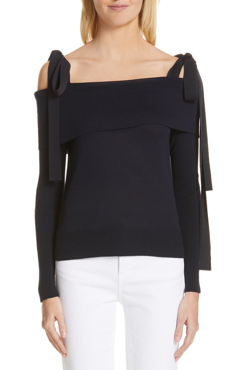 ADEAM Off the Shoulder Sweater, Main, color, 400