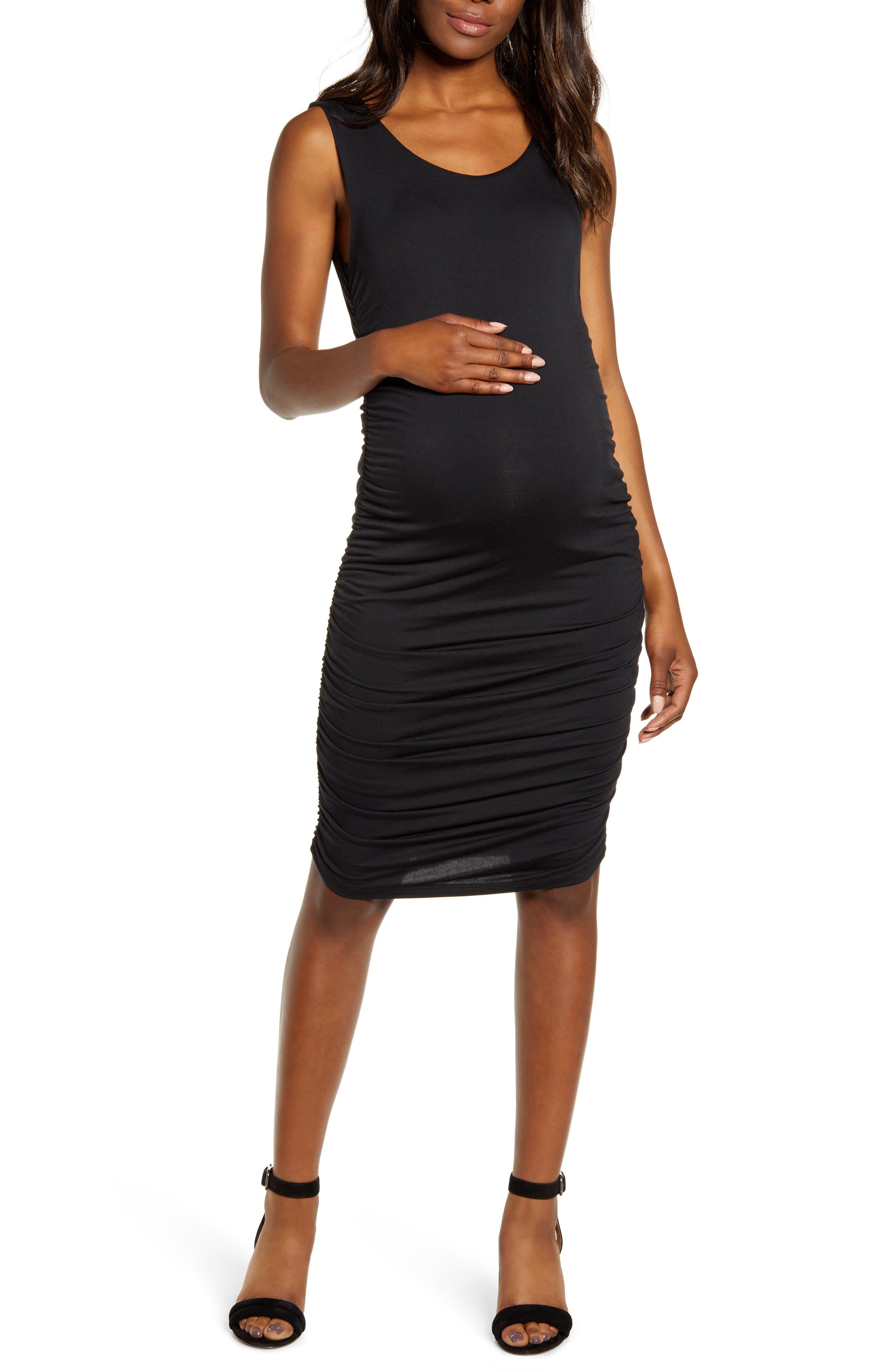 Sleeveless Body-Con Maternity Dress