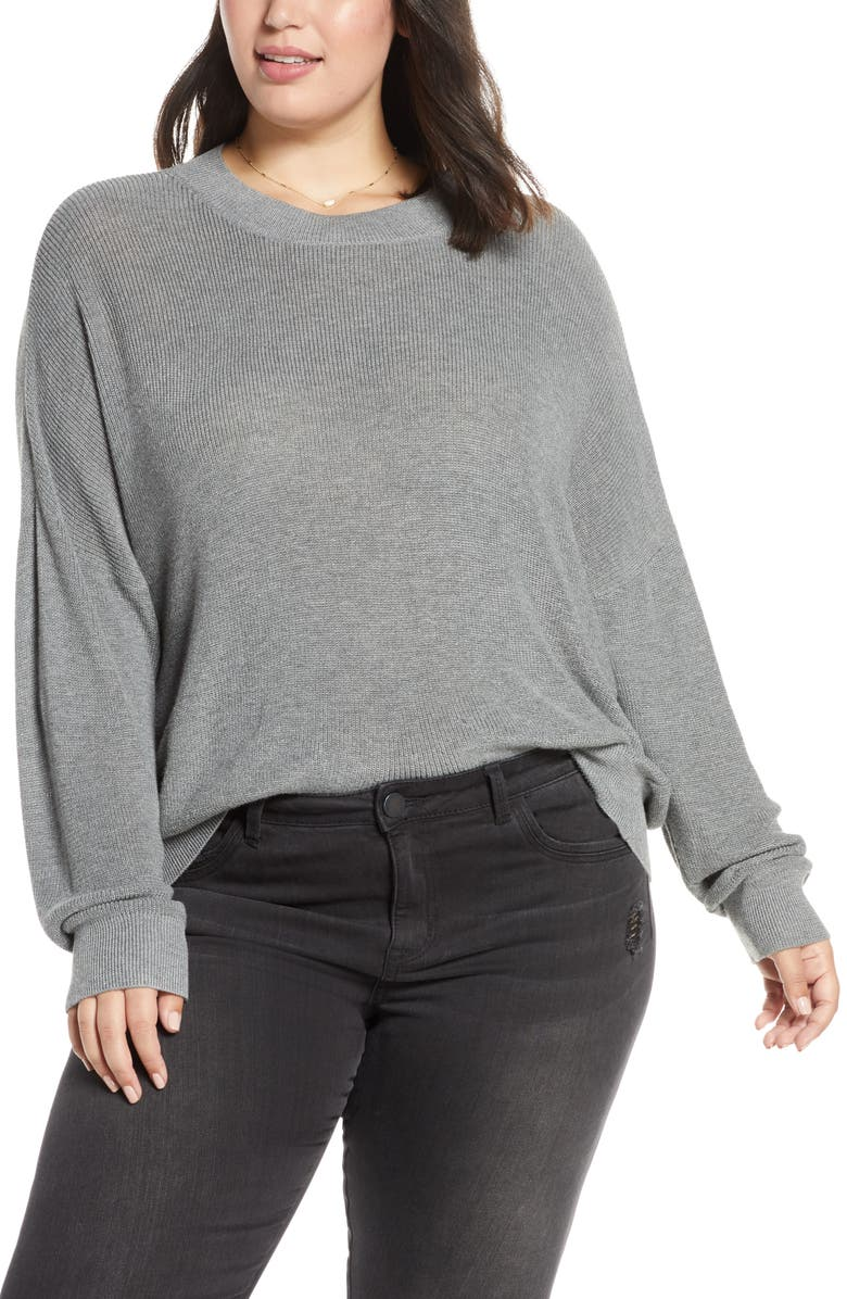 BP. Lightweight Sweater, Main, color, GREY CLOUDY HEATHER