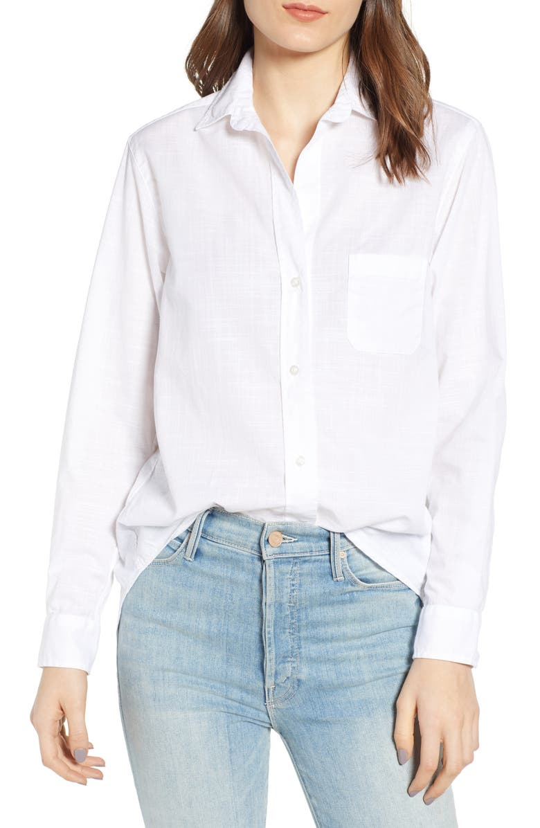 GRAYSON The Hero Washed Cotton Shirt, Main, color, COLETTE CLASSIC WHITE