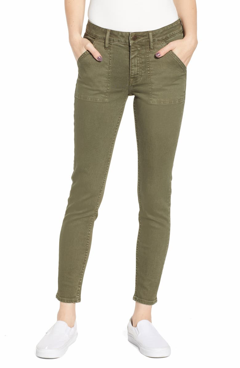VIGOSS Utility Skinny Jeans, Main, color, 300