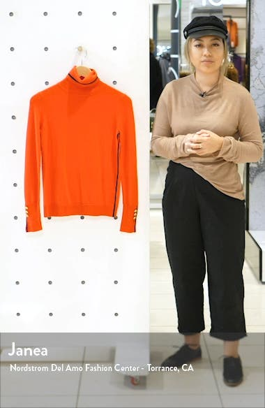 Button Cuff Tipped Turtleneck Sweater, sales video thumbnail
