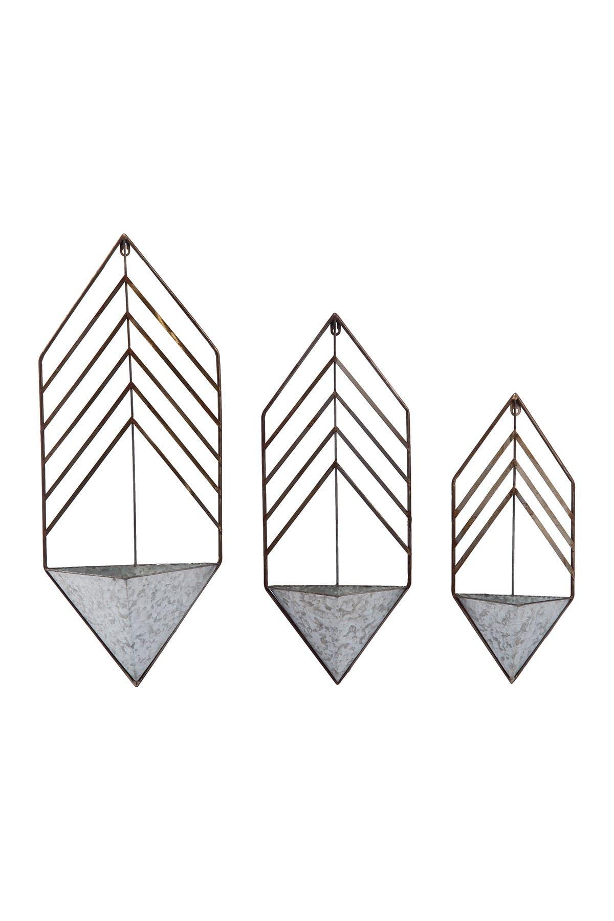 Image of Transpac Metal Galvanized Nested Planter - Set of 3