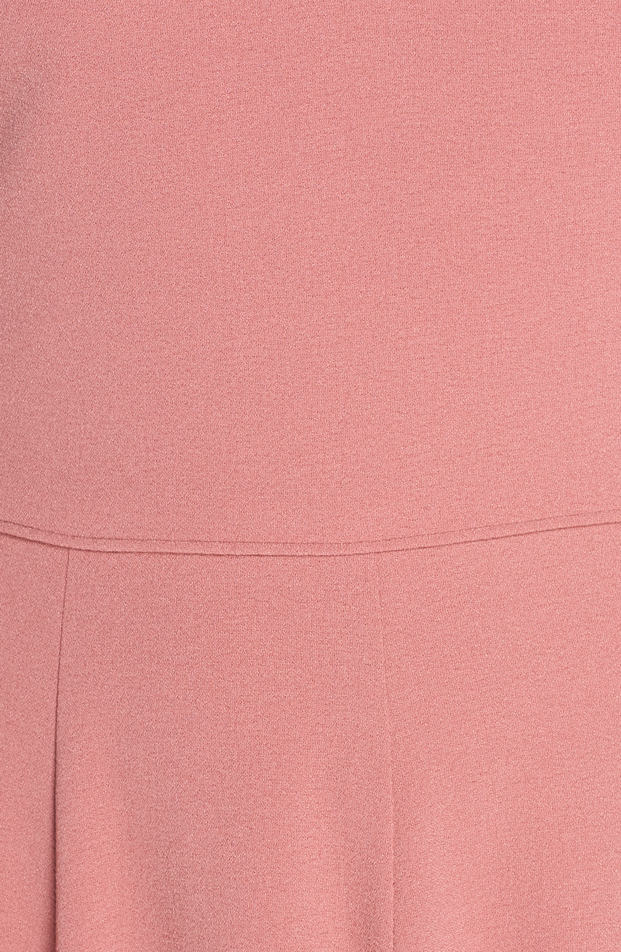 ,                             Edith City Crepe Fit & Flare Midi Dress,                             Alternate thumbnail 6, color,                             UPTOWN PINK