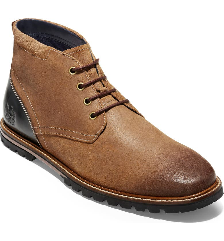 COLE HAAN Raymond Grand Water Resistant Chukka Boot, Main, color, BROWN DISTRESSED LEATHER