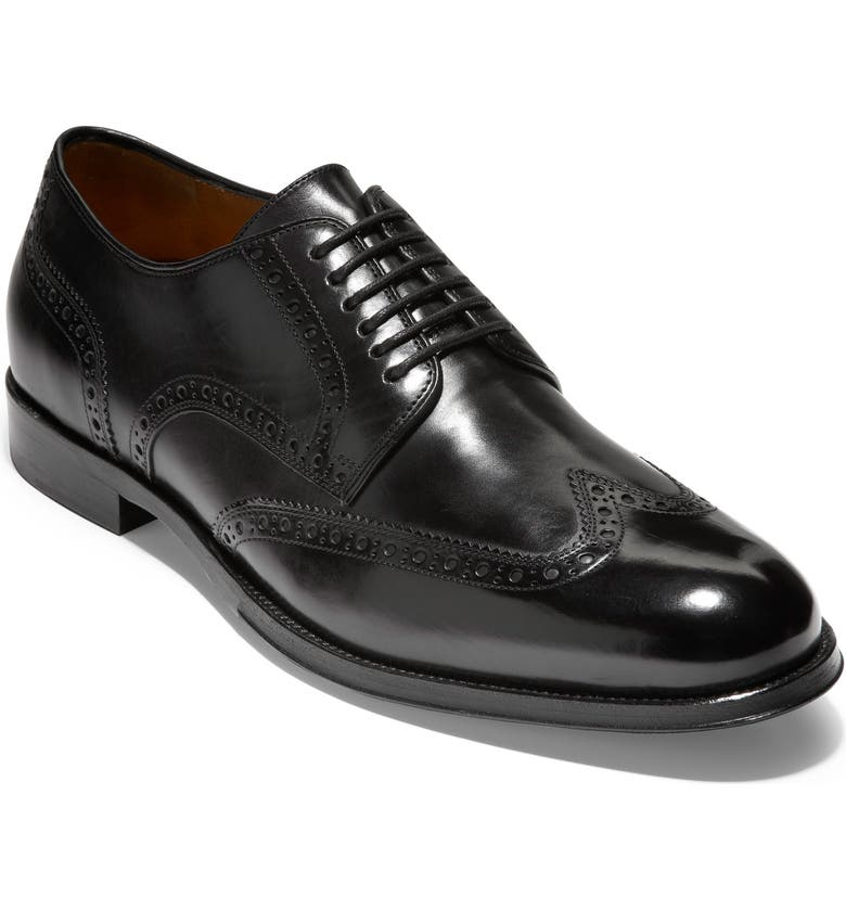 COLE HAAN American Classics Gramercy Wingtip, Main, color, BLACK LEATHER