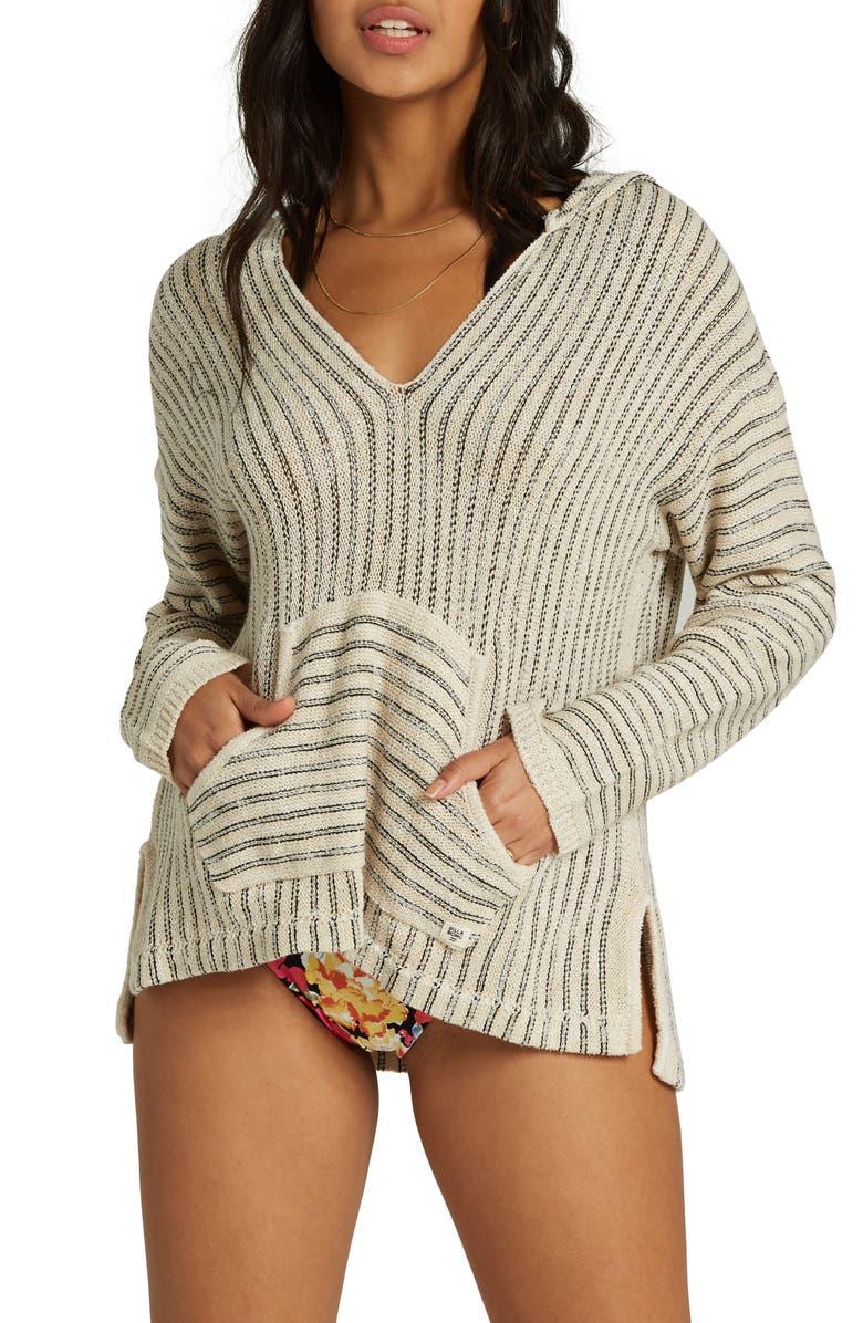 BILLABONG Sandy Shores Hooded Sweater, Main, color, 100