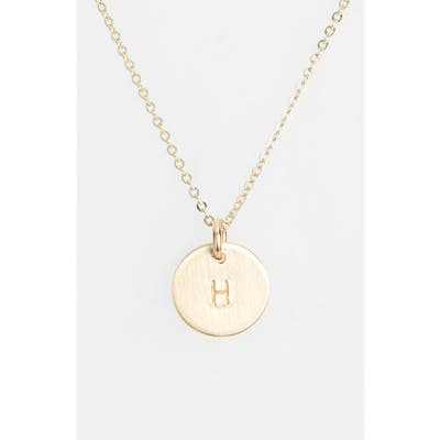 Nashelle 14K-Gold Fill Initial Mini Circle Necklace