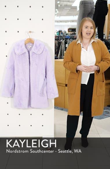 Everette Faux Fur Coat, sales video thumbnail