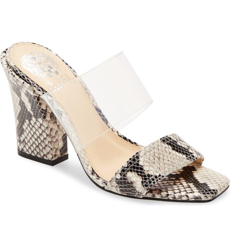 VINCE CAMUTO Felima Two-Strap Sandal, Main, color, BLACK/ WHITE