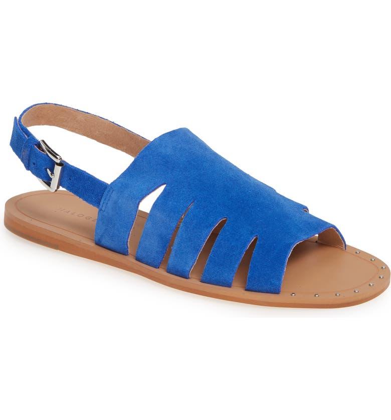 HALOGEN<SUP>®</SUP> Jannie Cutout Slingback Sandal, Main, color, COBALT SUEDE
