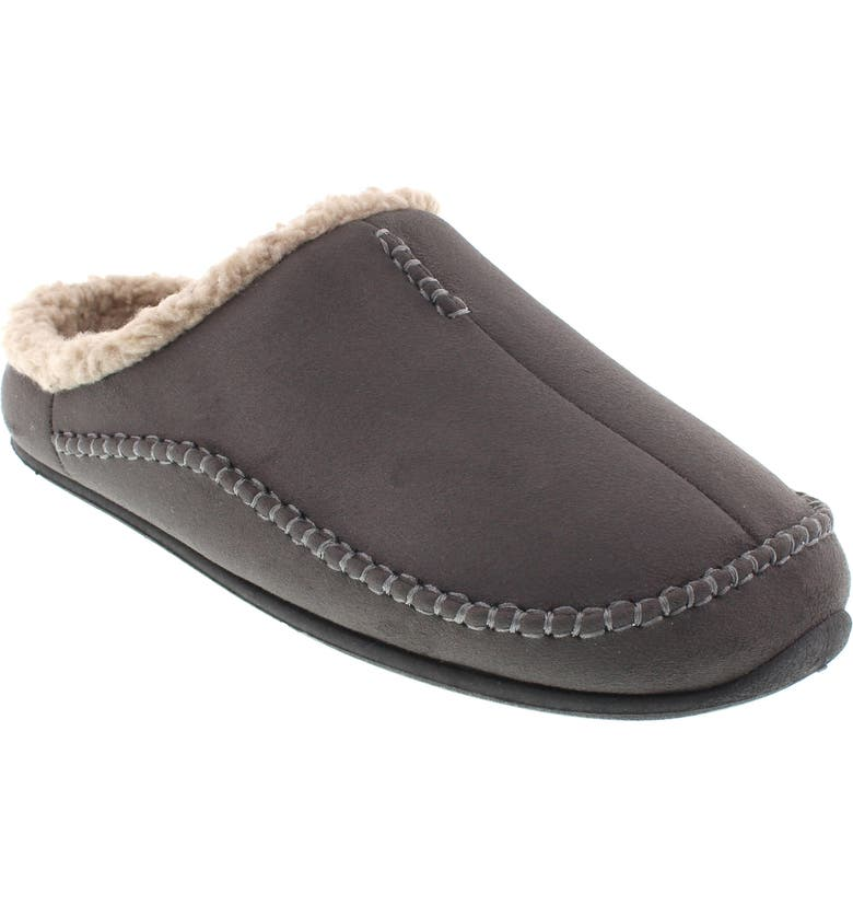 DEER STAGS 'Nordic' Slipper, Main, color, DARK GREY