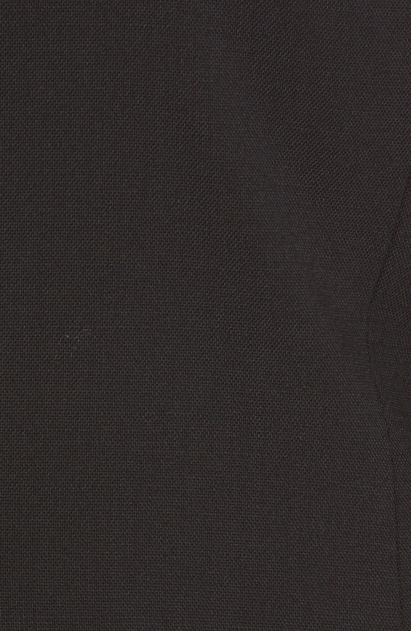 ,                             Long Blazer,                             Alternate thumbnail 6, color,                             POLO BLACK