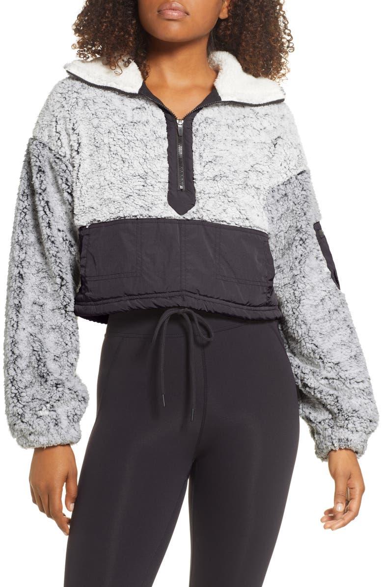 FREE PEOPLE FP MOVEMENT BFF Half Zip Pullover, Main, color, DARK GREY
