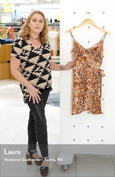 Cowl Neck Snakeskin Print Silk Dress, sales video thumbnail